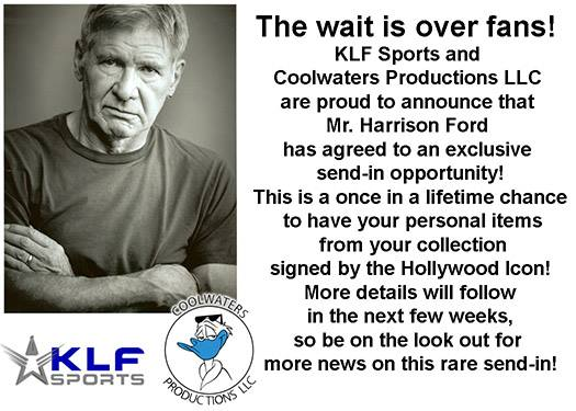 HARRISON FORD EXCLUSIVE SEND-IN WITH KLF SPORTS AND